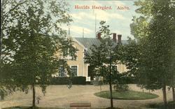 Vykort med motiv över Hovids herrgård på Alnö.