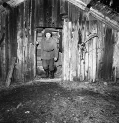 Tidigare skidlöparstjärnan Lars-Teodor Jonsson i sin bostad,