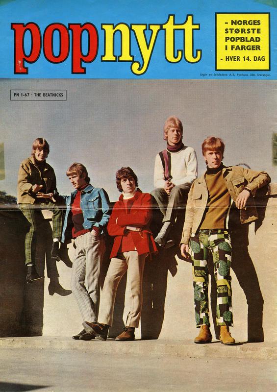 Foto: The Beatnicks i Popnytt, 1967. Arild Krosby lengst til høyre.