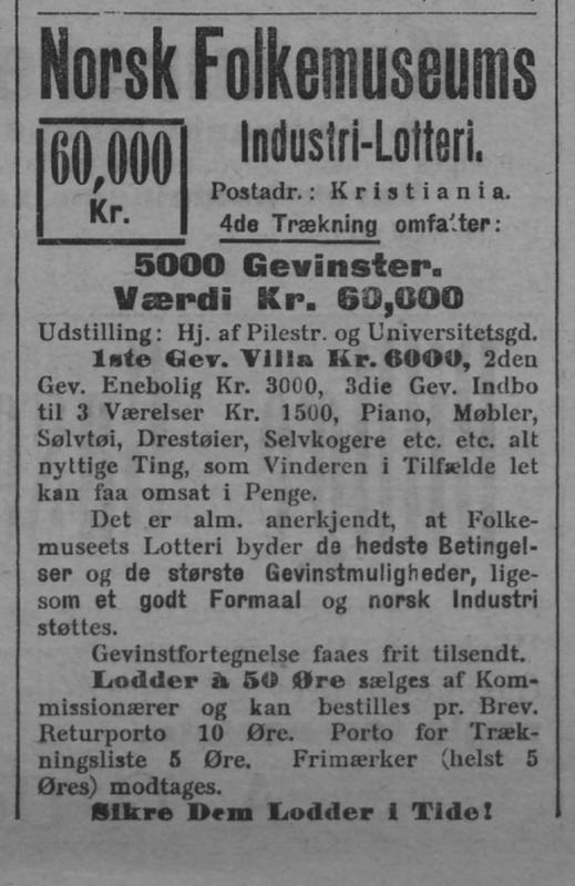 Lotteri Annonse 1905 (Foto/Photo)