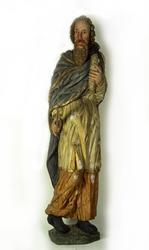 Träskulptur föreställande aposteln Paulus i Brahekyrkan på V
