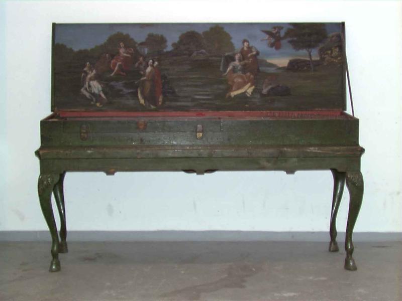 Klavikord bygd av Johan Hass i Hamburg i 1746.