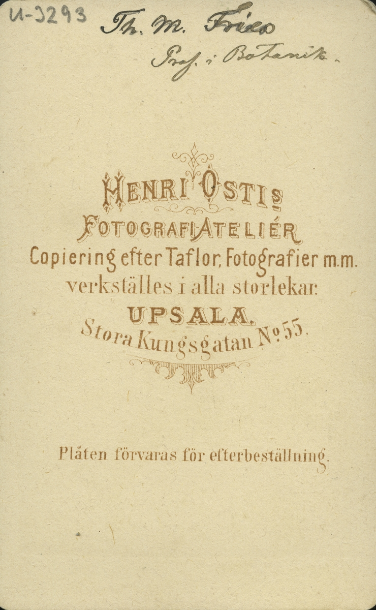"""Professor Theodor """"Thore"""" Magnus Fries."""