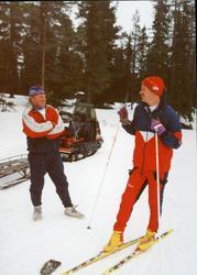 Frå Solseter skistadion. Frå v.Per Einar Brøto og Ivar Bjørk