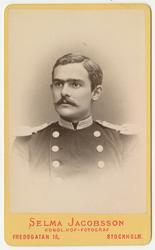 Porträtt av Johan Gillis Samuel Arfwidson, löjtnant vid Andr