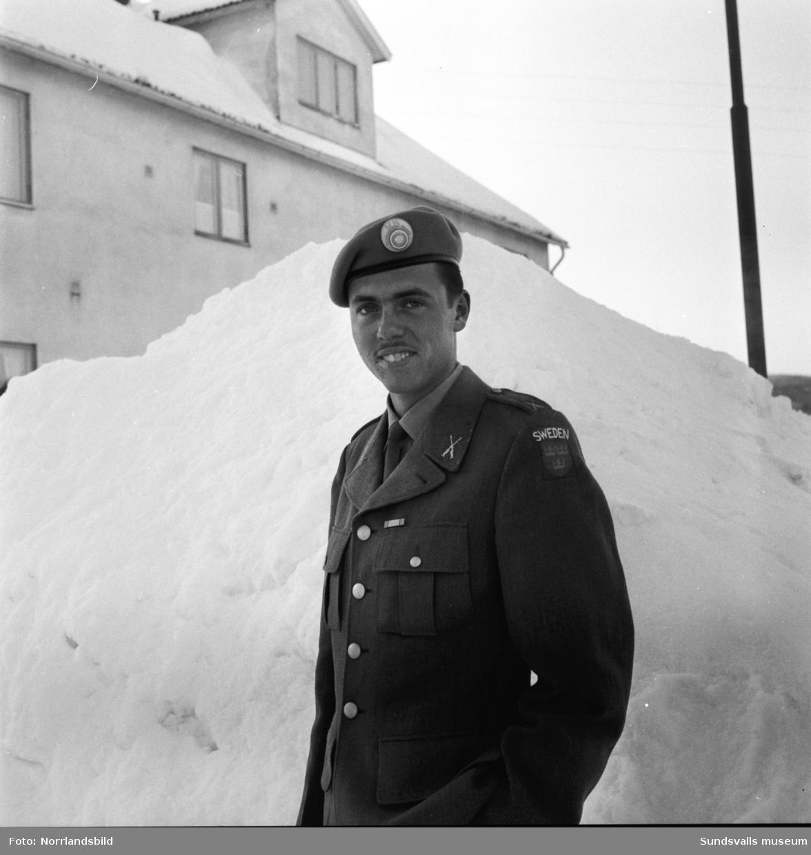 FN-soldaten Dick Berggren på Bergsgatan.