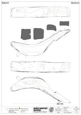 2D-presentasjon av linjetegning basert på skann i Rhino3D (Foto/Photo)