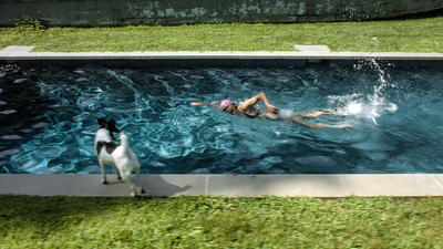 RAGNAR KJARTANSSON, Scenes From Western Culture, The Pool (Elizabeth Peyton), 2015. Single-channel video with sound. 24:37 minutes. Edition of 6 plus 2 artist's proofs. Courtesy of the artist, Luhring Augustine, New York and i8 Gallery, Reykjavik.