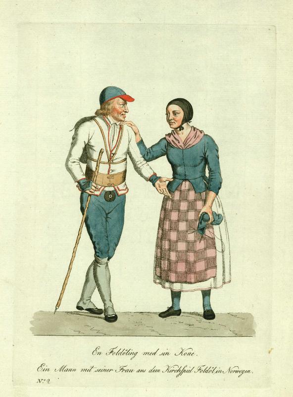 Kobberstikk etter akvarell av J.F.L. Dreyer. Ca. 1800. (Foto/Photo)
