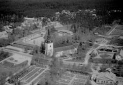 Älvdalen och Älvdalens kyrka år 1962.