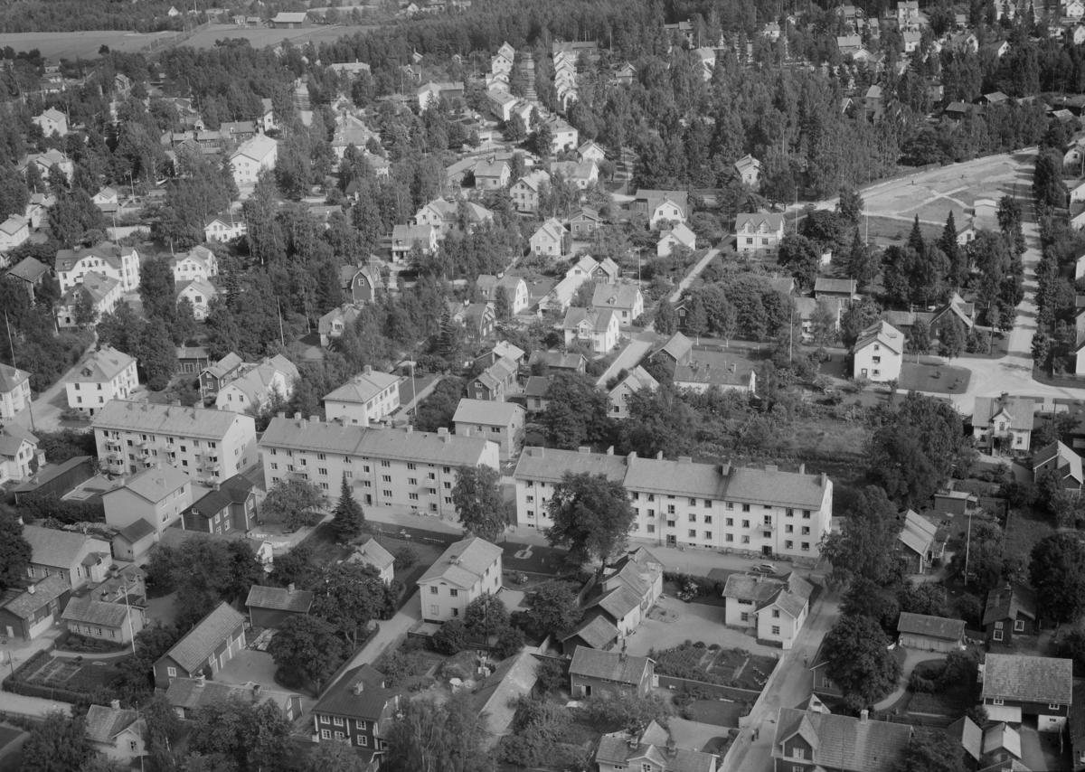Flygfoto över Säter.