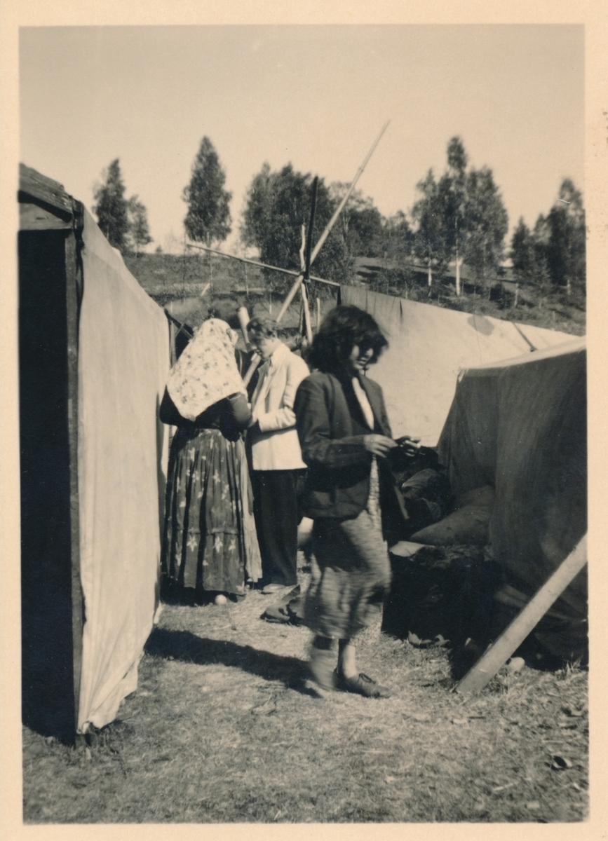 Bild från en romsk lägerplats, troligen tagen i samband med Torsby marknad.