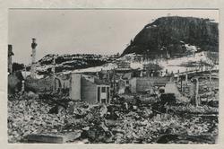 Namsos sentrum etter bombing