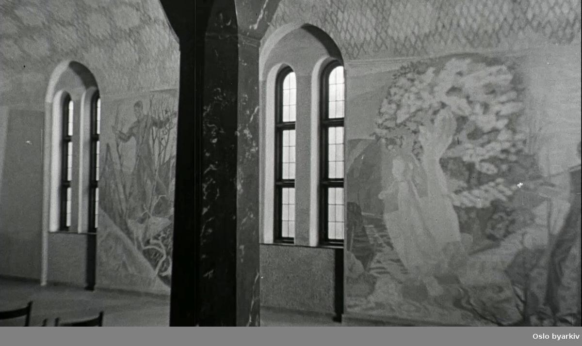 Interiør fra Vestre krematorium.