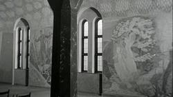 Alf Rolfsens dekorasjoner i det nye krematorium