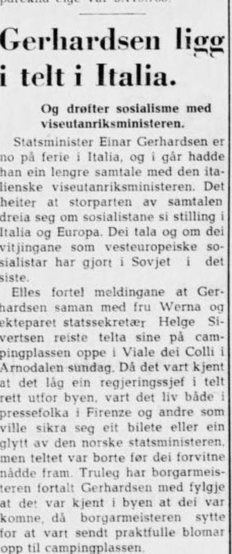 Faksimile. Sogn og Flordane 20.7.1956