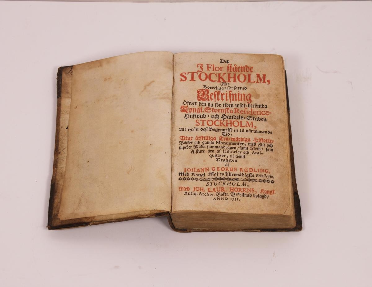 Beskrivelse av Stockholm av 1731