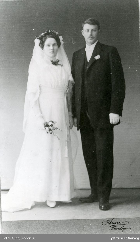 Brudebilde av Gudmund og Jakobie Frøseth
