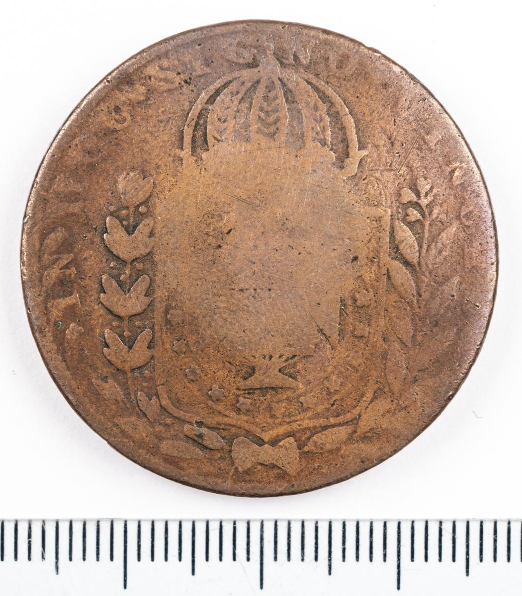 Mynt, Brasilien, 1824, 20 Reis.