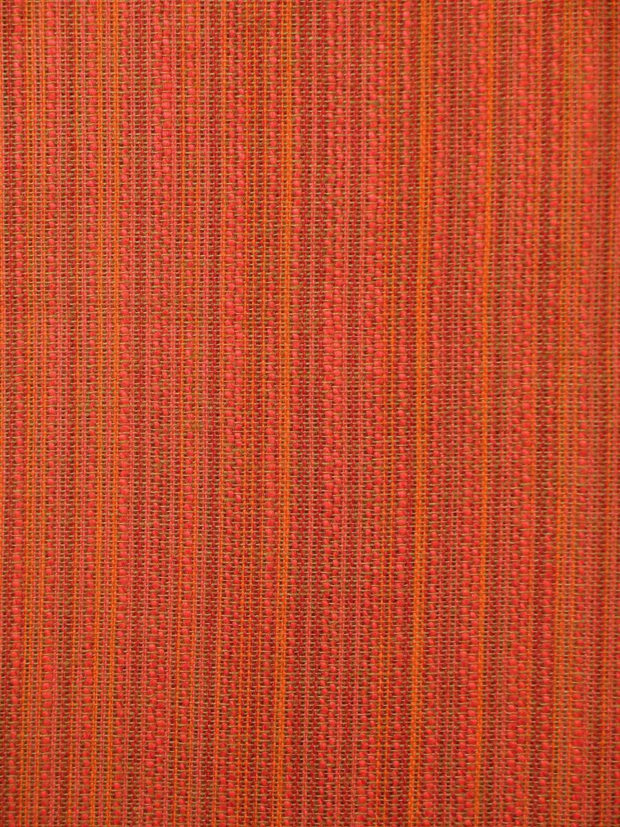 Dralongardin med stripet struktur i rødt og oransje nyanser.