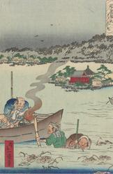 Lotusplukking i Shinobazudammen ved Benten  [Grafikk]