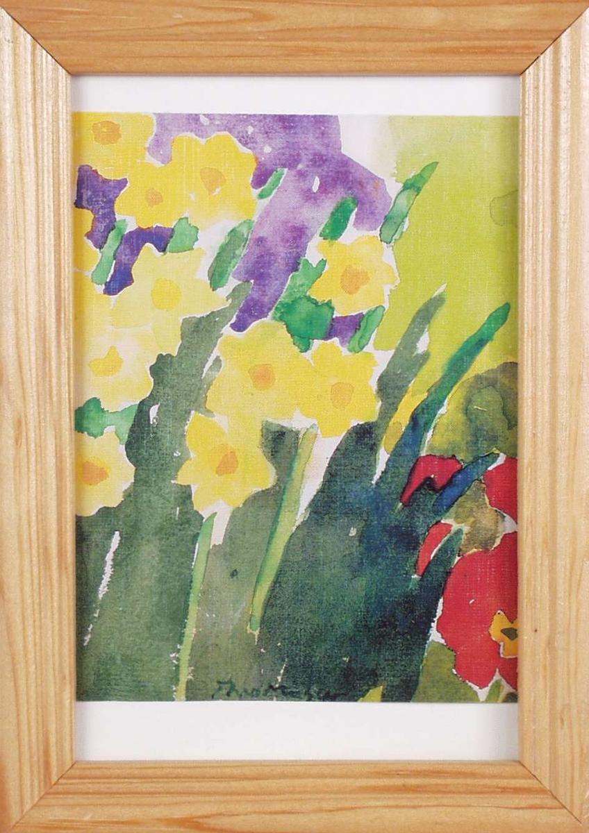 Vase med blomster.