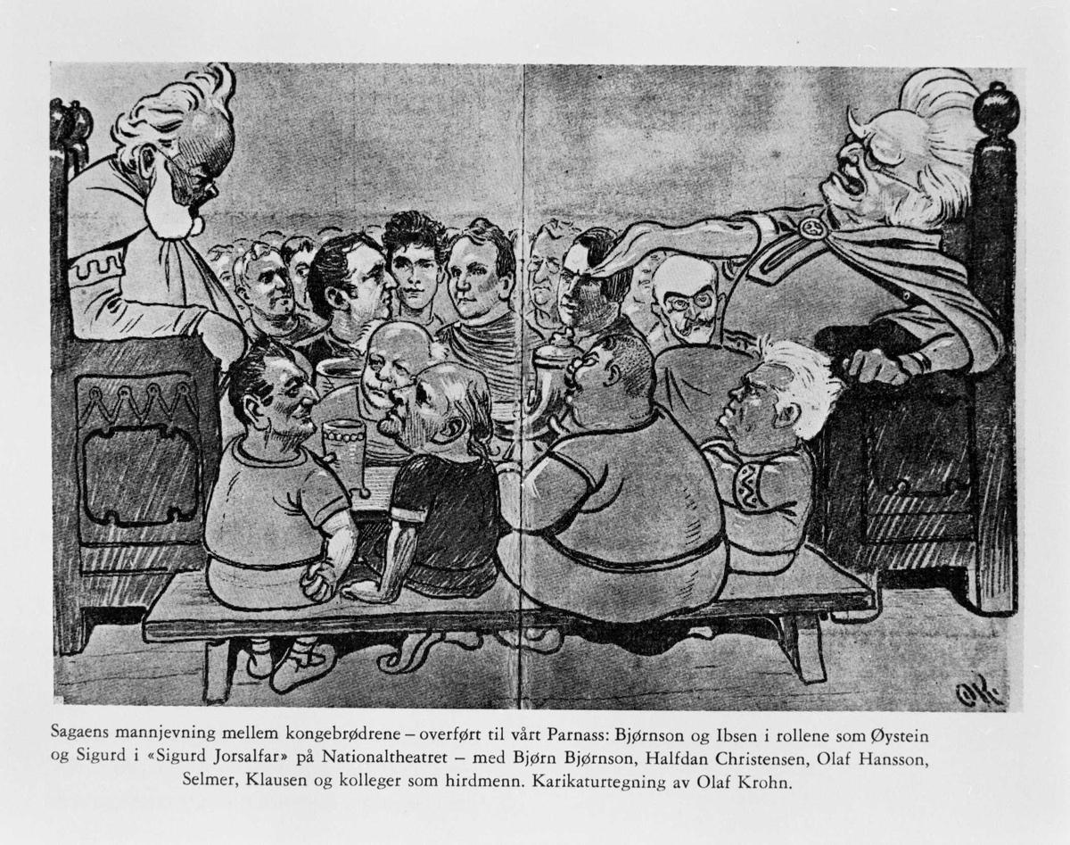 Karikatur, kongebrødrene, Sigurd Jorsalfar,