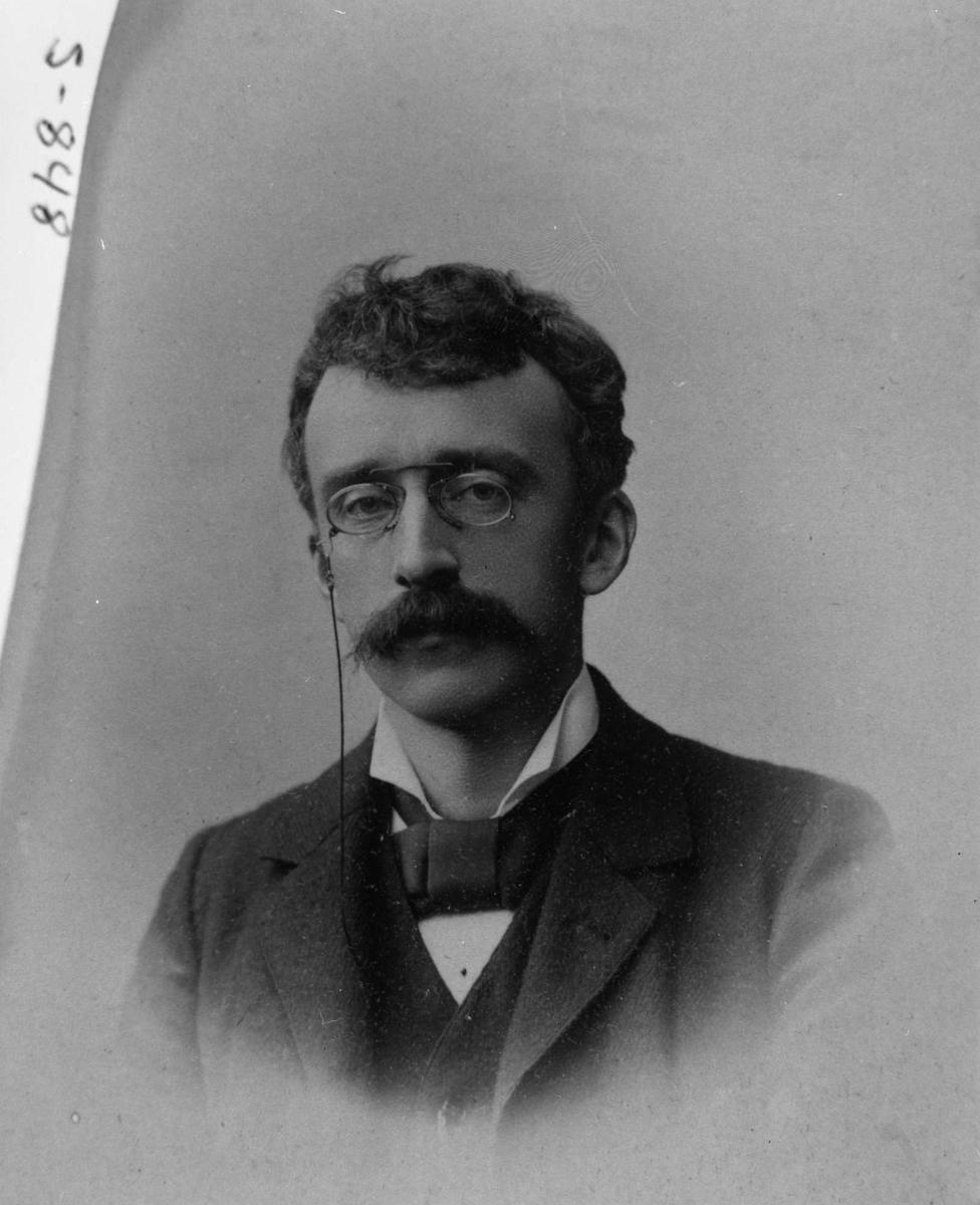 Chr. Collin, briller, bart, repro,