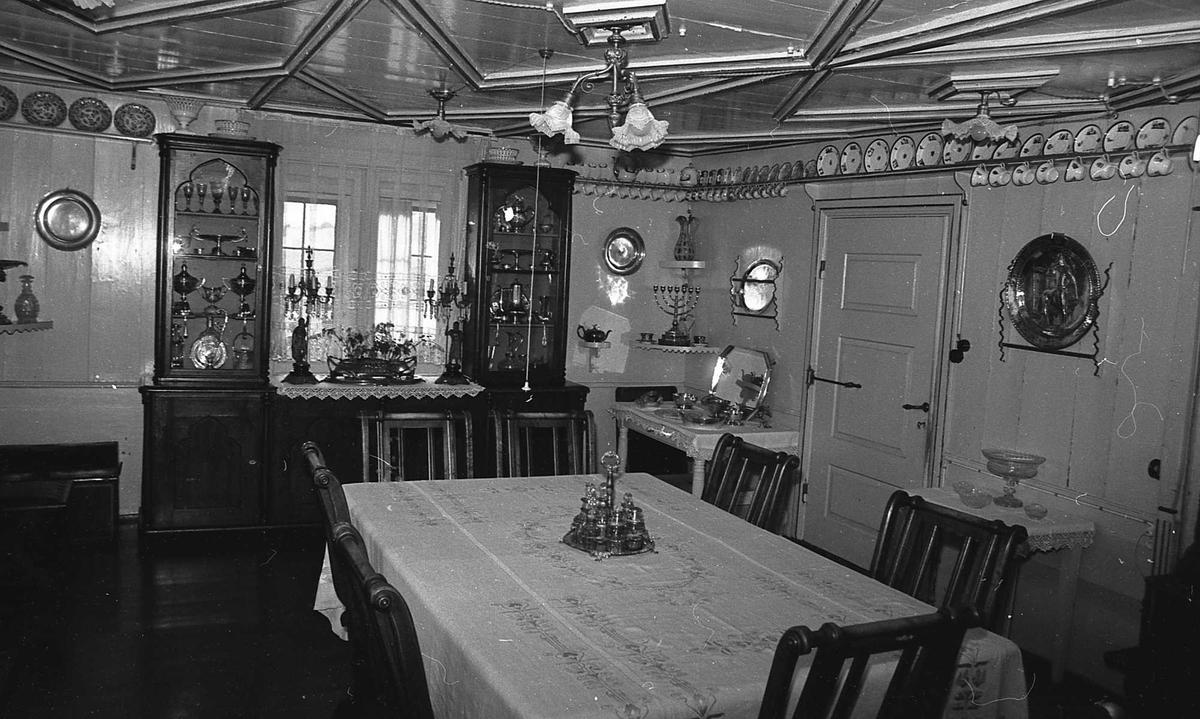 DOK:1972-1975, Aulestad, interiør, spisestue, bord, stol,