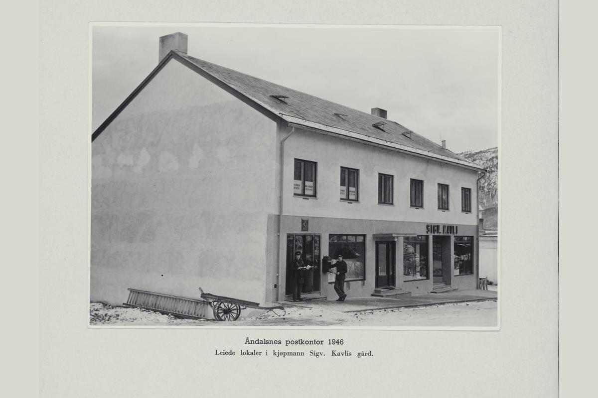 eksteriør, postkontor, 6300 Åndalsnes, postkasse, postskilt, postbud