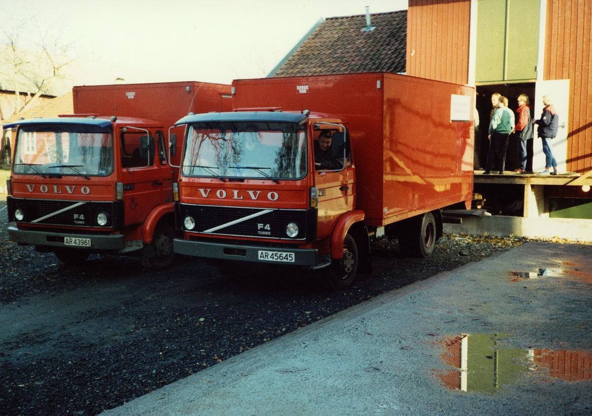 transport, bil, Moss, 2 Volvo lastebiler