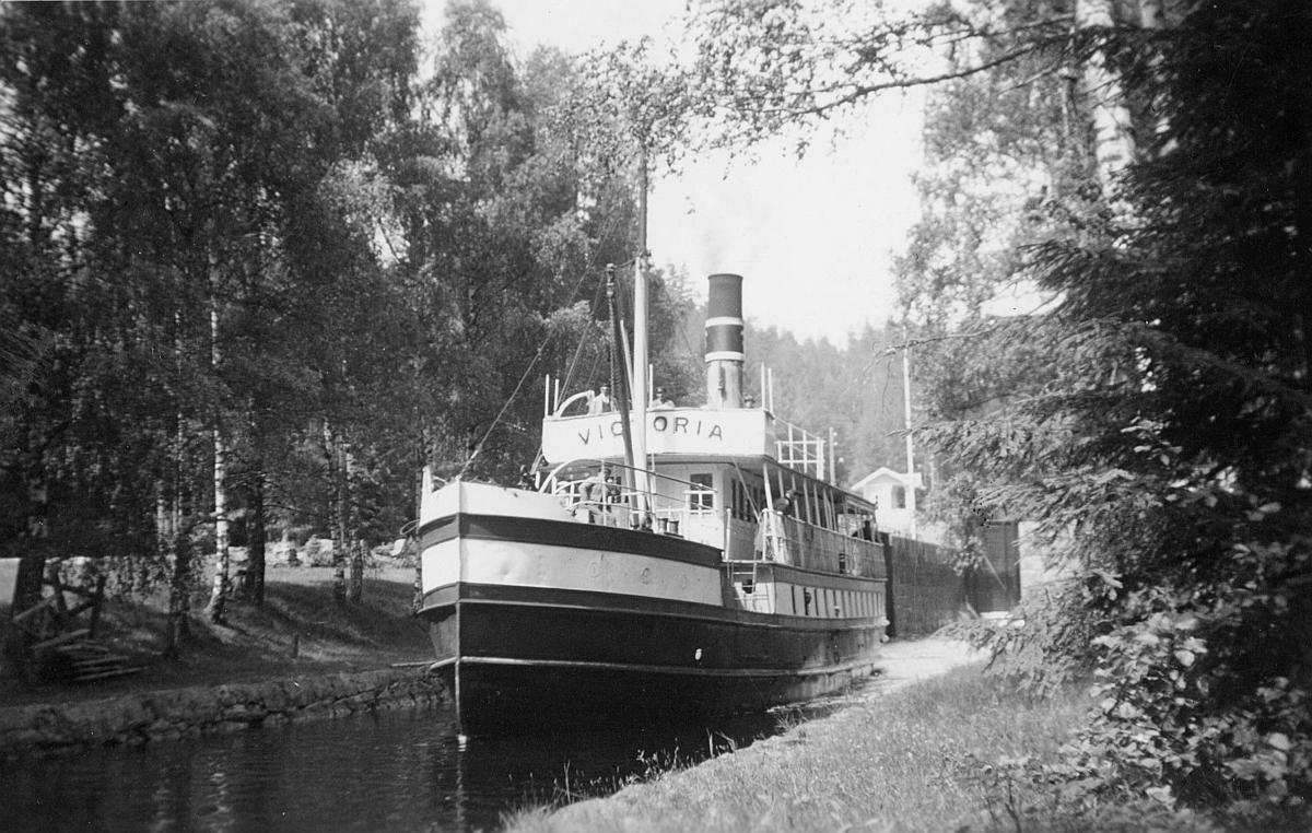 transport båt, D/S Victoria, postekspedisjon, Bandak-kanalen