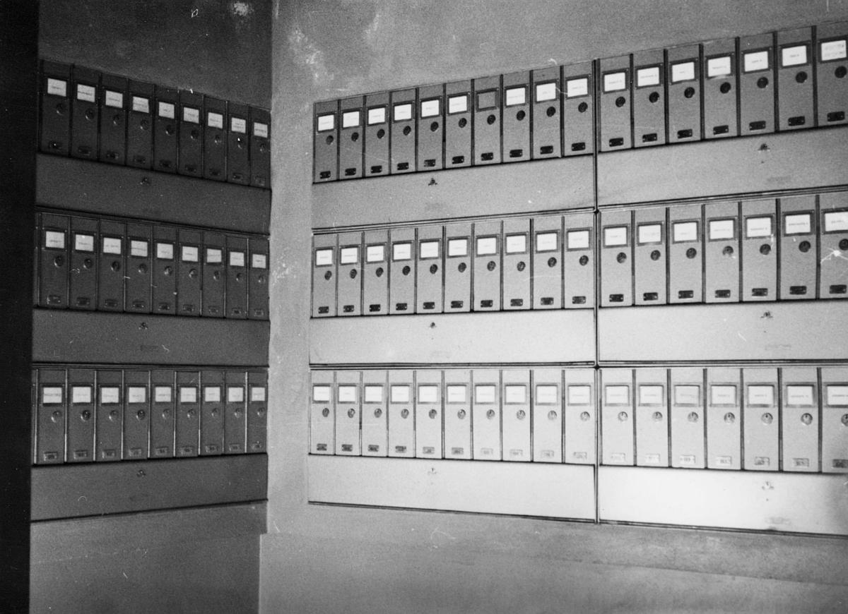 omdeling, postkasser, postkasseanlegg med 211 rom, A-anlegg bolighus