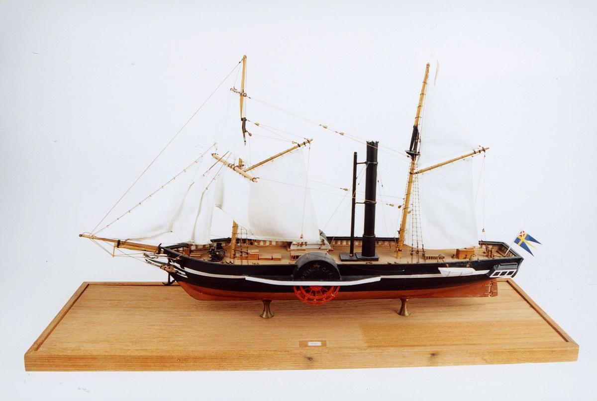 postmuseet, gjenstander, båt, båtmodell, skipsmodell, D/S Prinds Carl