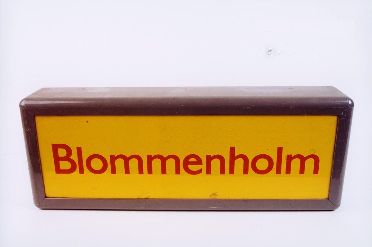postmuseet, gjenstander, skilt, stedskilt, stedsnavn, Blommenholm