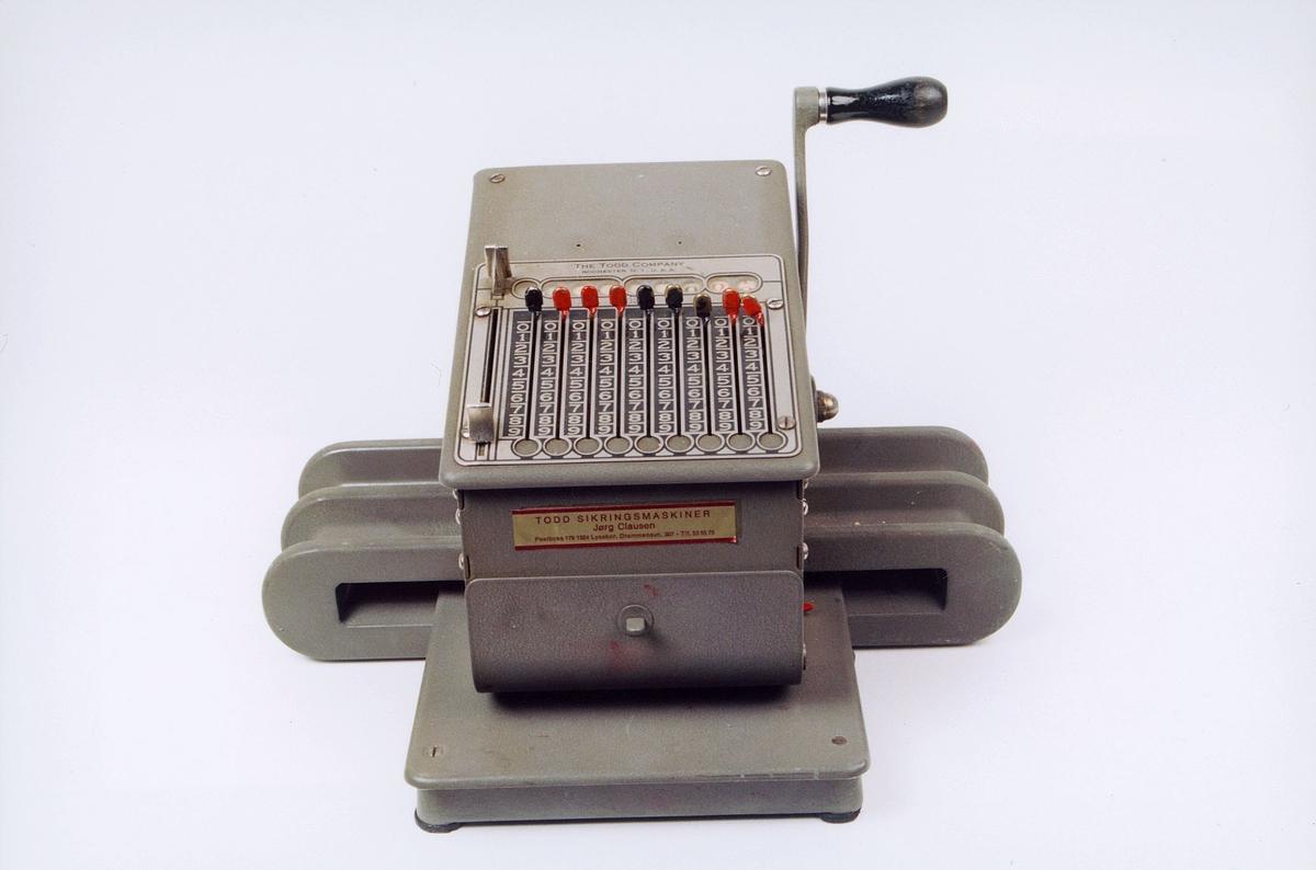 postmuseet, gjenstander, maskin, sikringsmaskin, Todd 24 nr.6609