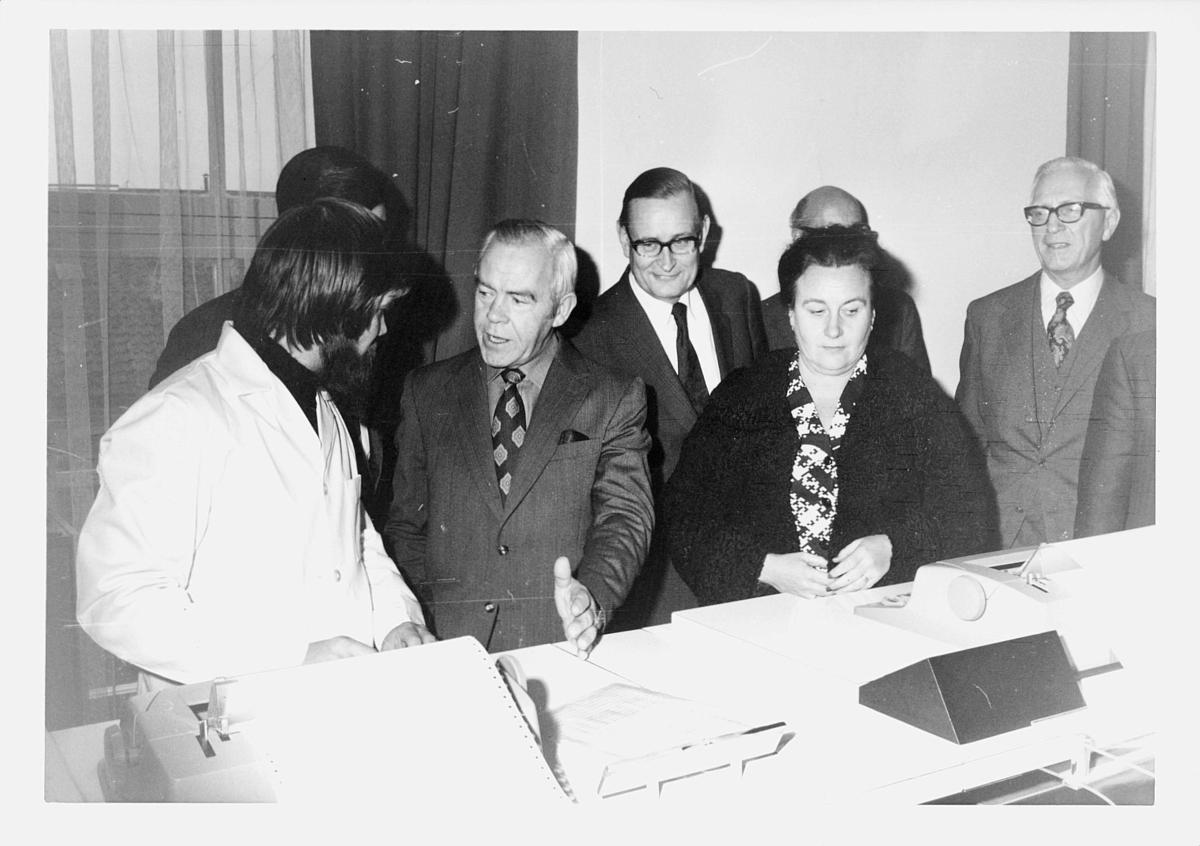 diverse, datakontoret, åpning, EDB-anlegg, november 1974