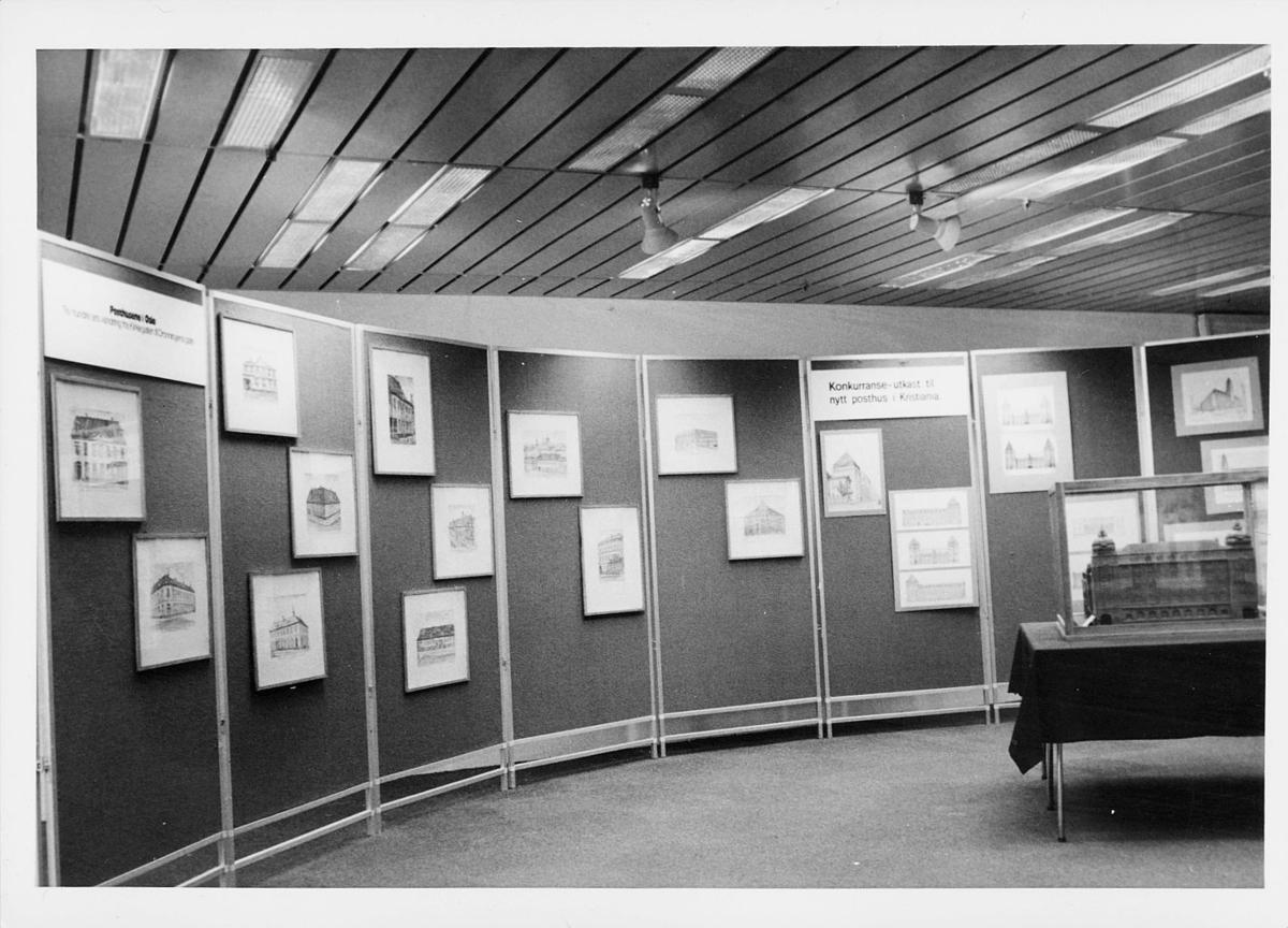 markedsseksjonen, Oslo postgård 50 år, utstilling, bilder av posthus i Oslo