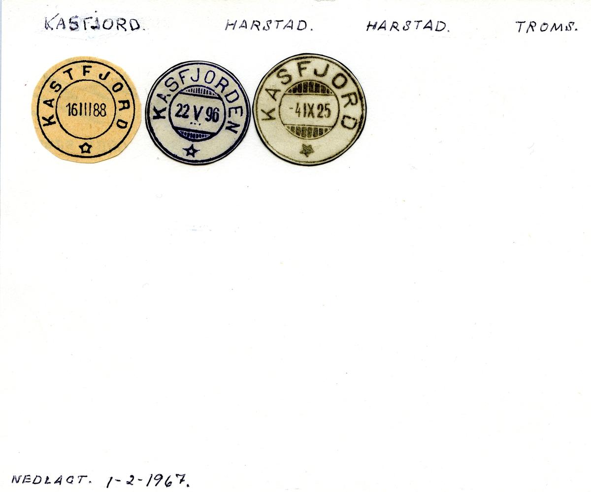 Stempelkatalog  Kastfjord, Harstad, Harstad kommune, Troms