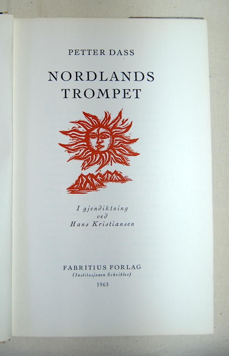 På forsiden av boken: En engel med trompett