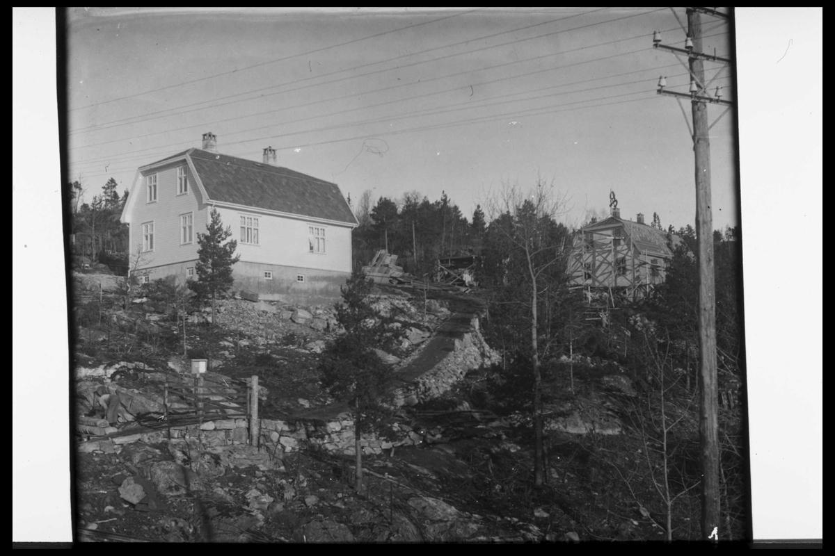Arendal Fossekompani i begynnelsen av 1900-tallet CD merket 0470, Bilde: 55 Sted: Flaten Beskrivelse: Boligene