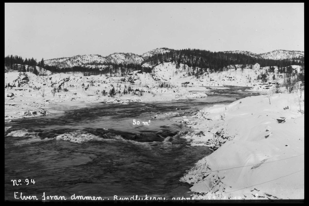 Arendal Fossekompani i begynnelsen av 1900-tallet CD merket 0565, Bilde: 51 Sted: Haugsjå Beskrivelse: Ovenfor dammen