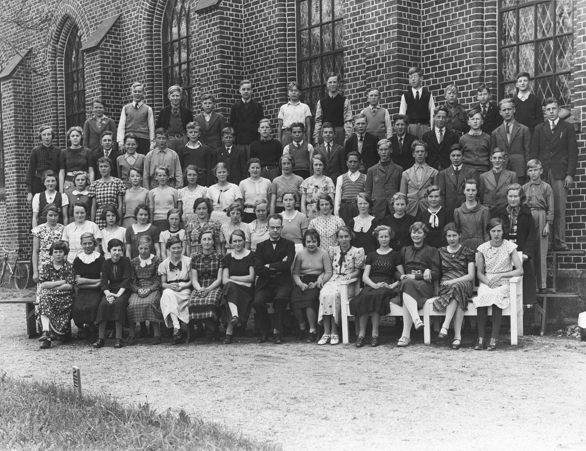 Konfirmanter, Ås kirke. Jacob Sten Natvig var prest.