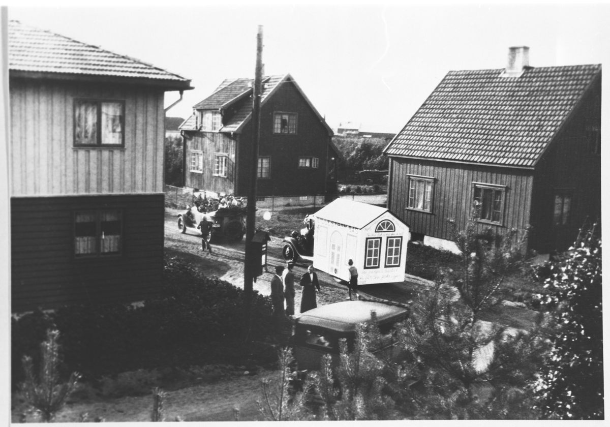 Opptog gjennom Lillestrøms gater.