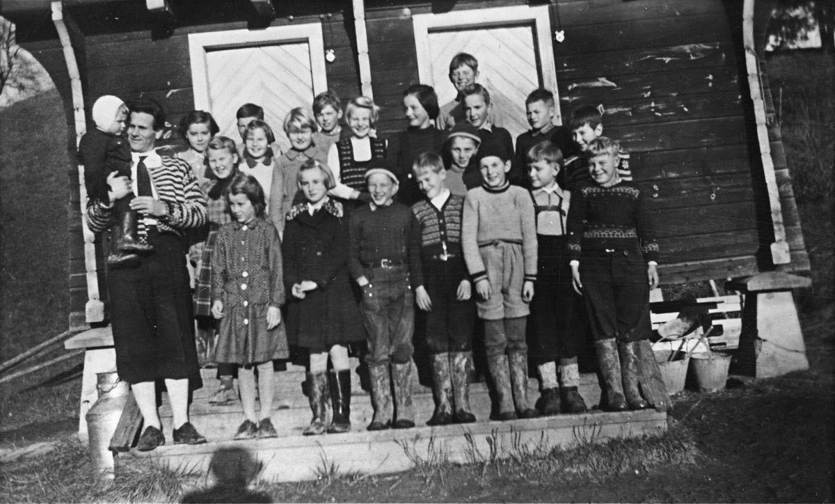 3de og 4de klasse.Lærer Øistein Solvang.