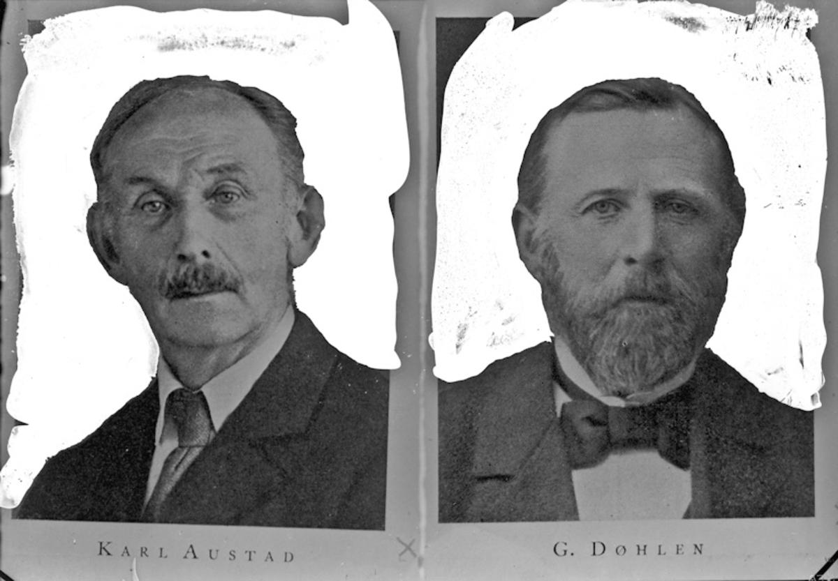 Karl Austad og G Døhlen.