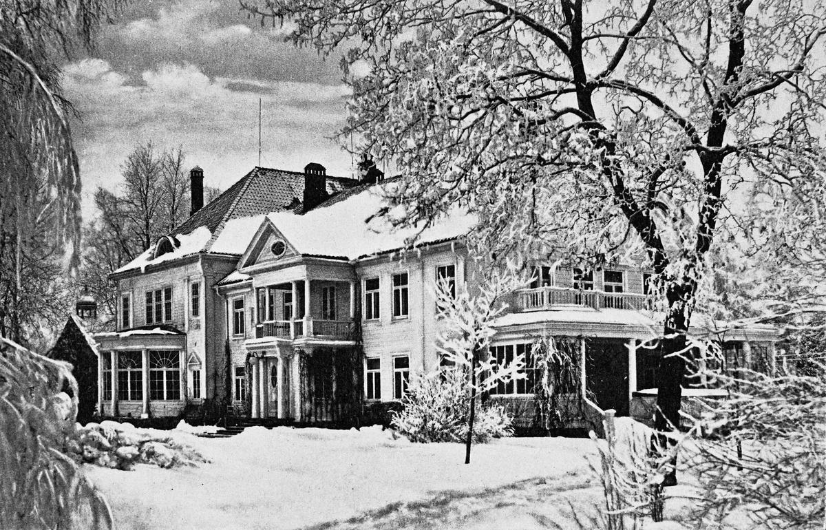 Hovedbygningen, Eidsvoll Verk. Vinterstid.