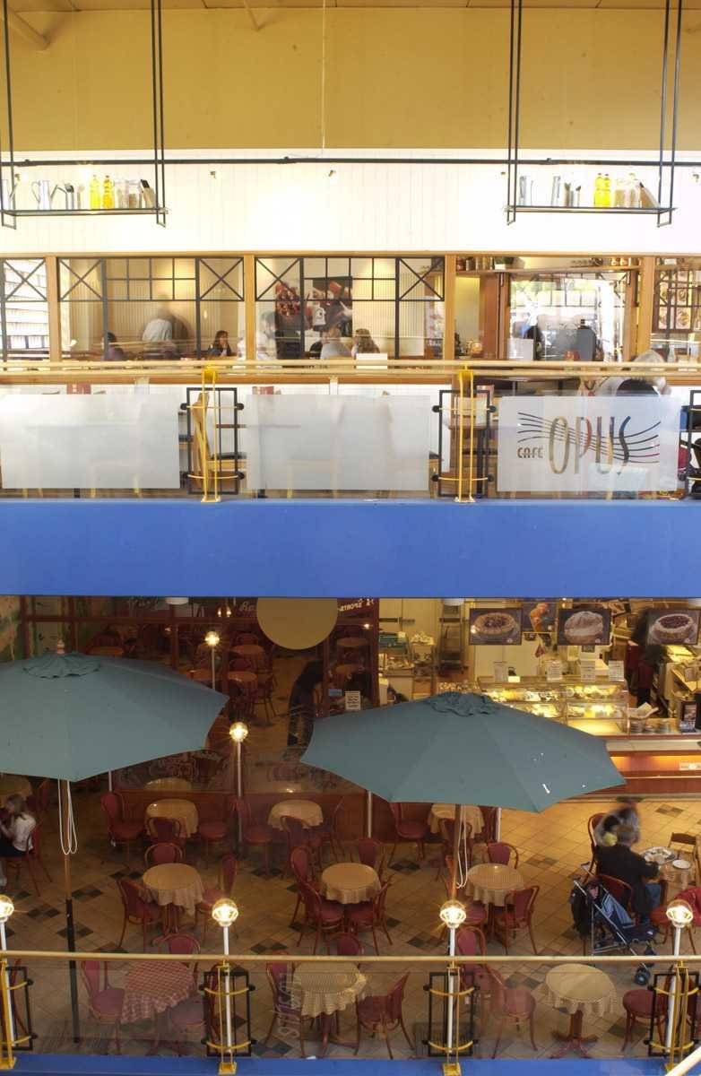 Røykerrommet Opus Kafé 2. etg. Ski Storsenter. Oversiktsbilde over Røykerommet