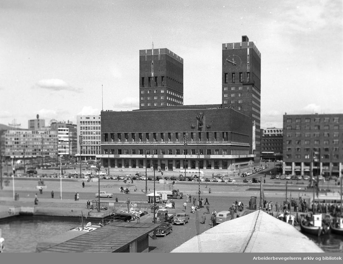 Rådhuset i Oslo,.1956
