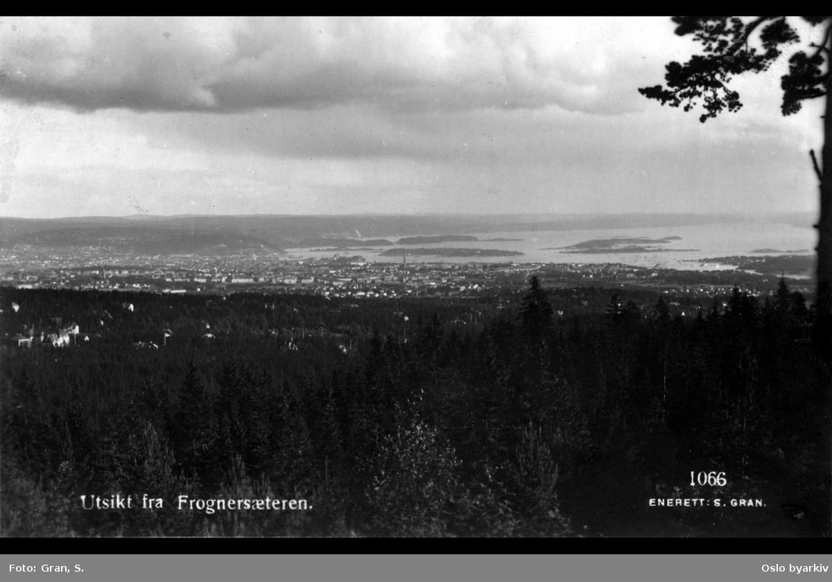 Frognerseteren, Oslo og fjorden i bakgrunnen